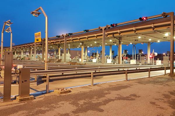 Autostrada-Torino-Savona—ripristino-totale-dell'impianto-elettrico-presso-la-barriere-di-Carmagnola